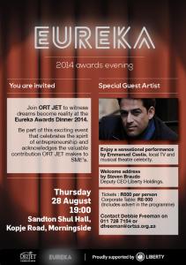 Eureka 2014 awards Evening Invitation