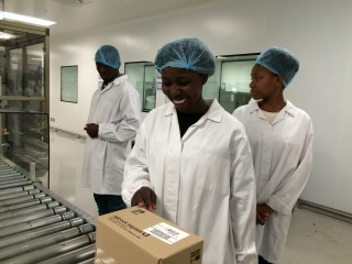 The Science students from the 2nd Chance programme getting to see first hand the workings of Adcock Ingram