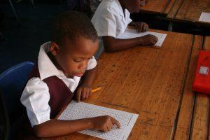 Ekukhanyisweni Grade 2 pupil