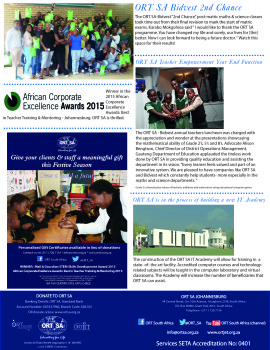 ORT Newsletter (November-December 2015)