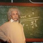albert-einstein-wax-model-standing-blackboard-45372897