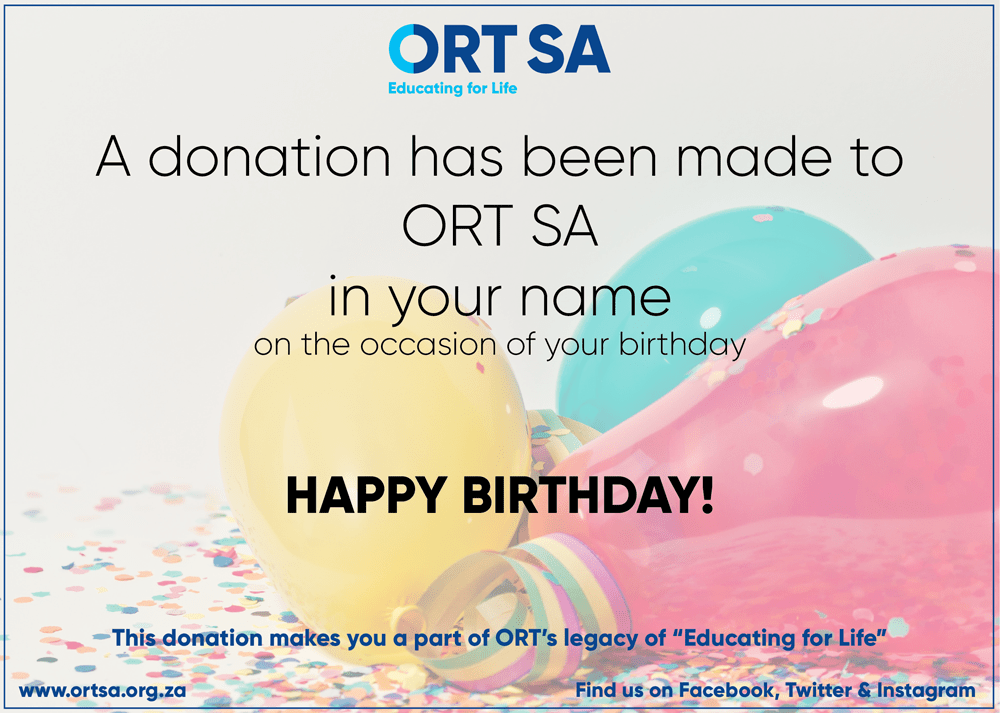 ORT SA Gift E Card Happy Birthday South Africa