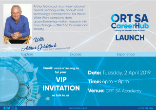 ORT SA CareerHub VIP launch with Arthur Goldstuck