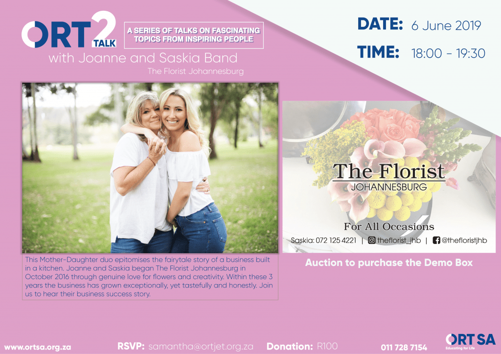 ORT2Talk The Florist Johannesburg - with Joanne & Saskia Band