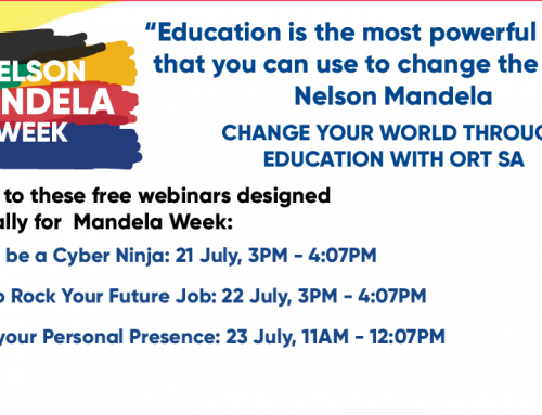 ORT SA PRESENTS MANDELA WEEK WEBINARS